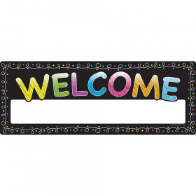 Poly Welcome Banner Chalk Dots Dry-Erase Surface