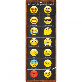 Smart Poly Clip Chart Emoji Feeling Dry-Erase Surface