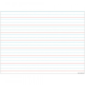 "Smart Poly Handwriting Chart Tablet Lined 3/4"", Dry-Erase Surface, 17"" x 22"""