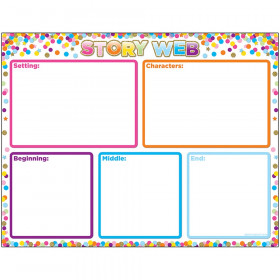 Smart Poly Chart Story Web Confetti Dry-Erase Surface