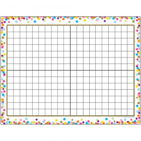 "Smart Poly Confetti 14x20 Grid Chart, Dry-Erase Surface, 17"" x 22"""