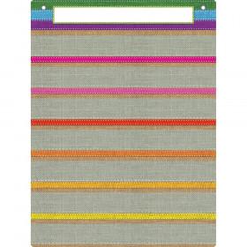 "Smart Poly Pocket Chart, 18"" x 24"", 7 Pockets & 2 Grommets, Burlap Stitched"