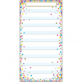"Smart Poly Pocket Chart, 13"" x 25"", 10 Pockets & 2 Grommets, Confetti"