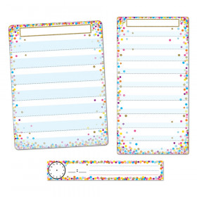 3Pc Confetti Pocket Chart Set Smart Poly