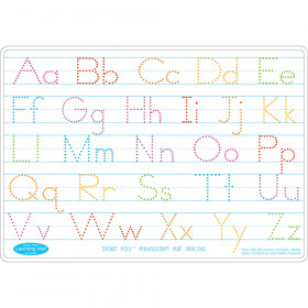 "Smart Poly Learning Mat, 12"" x 17"", Double-Sided, Manuscript Tracing"