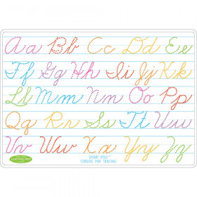 "Smart Poly Learning Mat, 12"" x 17"", Double-Sided, Cursive Tracing"