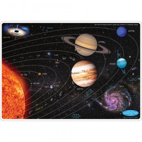 """Smart Poly Learning Mat, 12"""" x 17"""", Double-Sided, Solar System"""
