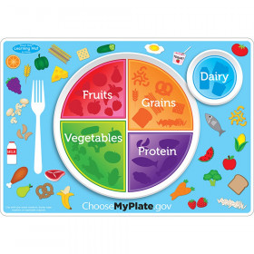 """Smart Poly Learning Mat, 12"""" x 17"""", Double-Sided, MyPlate.gov"""