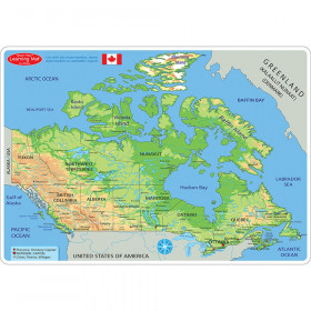 "Smart Poly Learning Mat, 12"" x 17"", Double-Sided, Canada Map Physical"
