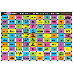 "Smart Poly Learning Mat, 12"" x 17"", Double-Sided, French Sight Words 1st & 2nd Year"