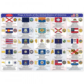 Smart Poly Double-Sided Learning Mat, State Flags