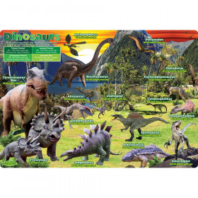 """Smart Poly Single Sided PosterMat Pals, Dinosaurs, 12"""" x 17.25"""""""