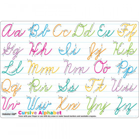 "Smart Poly Single Sided PosterMat Pals, Cursive Handwriting, 12"" x 17.25"""