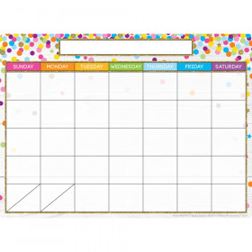 """Smart Poly Single Sided PosterMat Pals Space Savers, Calendar Confetti Style, 13"""" x 9.5"""""""