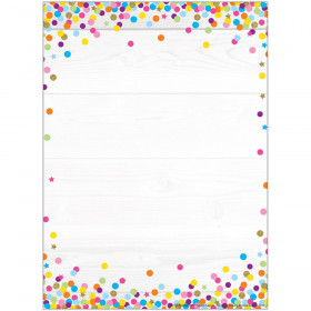 "Smart Poly Single Sided PosterMat Pals Space Savers, Blank Confetti Style, 13"" x 9.5"""