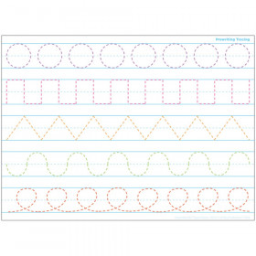 """Smart Poly Single Sided PosterMat Pals Space Savers, Prewriting Tracing, 13"""" x 9.5"""""""