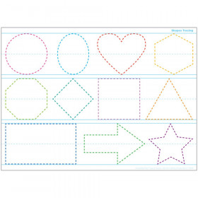 "Smart Poly Single Sided PosterMat Pals Space Savers, Shapes Tracing, 13"" x 9.5"""