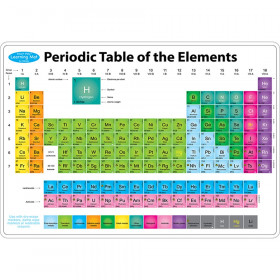 "Smart Poly Learning Mats, 12"" x 17"", Double-Sided, Periodic Table of the Elements, Pack of 10"