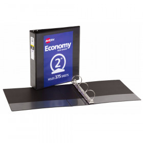 "Economy View Binder, 2"" Capacity, Black"