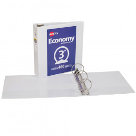 """Economy View Binder, 3"""" Capacity, White"""