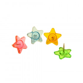 Fancy Push Pins, Stars, Pack of 16