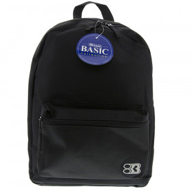 """BAZIC 16"""" Black Basic Collection Backpack"""