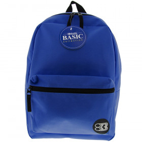 """BAZIC 16"""" Blue Basic Collection Backpack"""