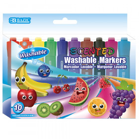 Washable Markers, Scented, 10 Colors