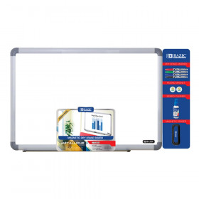 "Aluminum Frame Magnetic Dry Erase Board Value Pack, 24"" x 36"""