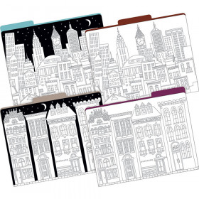 Letter Size File Folders Color Me Cityscapes Multidesign St