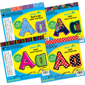 Letter Pop-Outs Curated Collection, Pack of 1020
