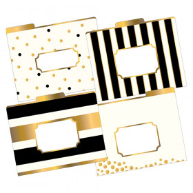 File Folders, Letter-Size, Gold, Pack of 12