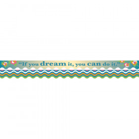 Double-Sided Border, Scalloped Edge, You Can Do It, 39'