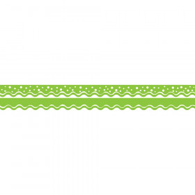 Double-Sided Border, Scalloped Edge, Happy Lime, 39'