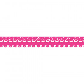 Double-Sided Border, Scalloped Edge, Happy Hot Pink, 39'