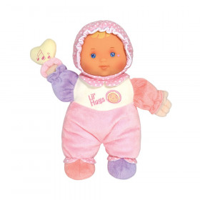 """Lil' Hugs Baby's First Soft Doll, Vinyl Face, Pastel Outfits with Rattle, 12"""" Caucasian"""