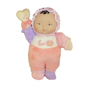 """Lil' Hugs Baby's First Soft Doll, Vinyl Face, Pastel Outfits with Rattle, 12"""" Asian"""