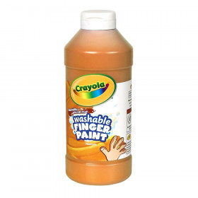 Crayola Washable Finger Paint, Orange, 16 oz