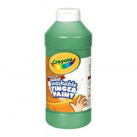 Crayola Washable Finger Paint, Green, 16 oz