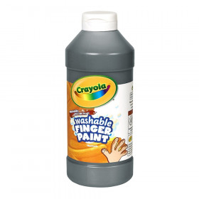Crayola Washable Finger Paint, Black, 16 oz