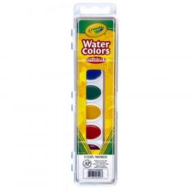 Artista II Watercolors, 8 Semi-moist Oval Pans & 1 Brush