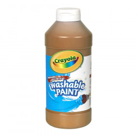 Crayola Washable Paint, Brown, 16 oz.