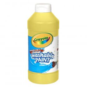 Crayola Washable Paint, Yellow, 16 oz.