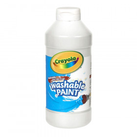 Crayola Washable Paint, White, 16 oz.