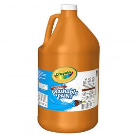 Washable Paint, Orange, Gallon