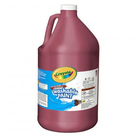 Washable Paint, Red, Gallon