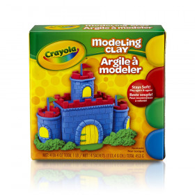 Modeling Clay 4 Pcs Red Blue Grn Yw