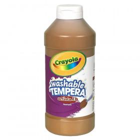 Artista II Washable Liquid Tempera Paint, Brown, 16 oz.