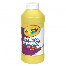 Artista II® Washable Liquid Tempera Paint, Yellow, 16 oz.