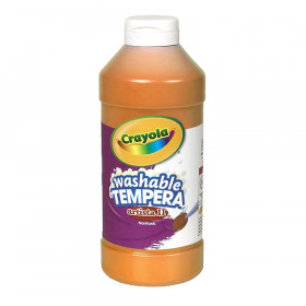 Artista II Washable Liquid Tempera Paint, Orange, 16 oz.